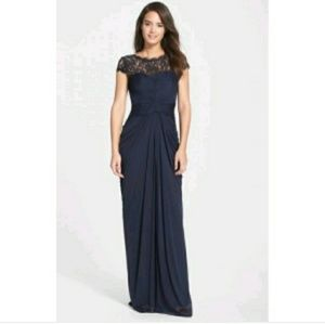 Adrianna Papell lace yoke dress
